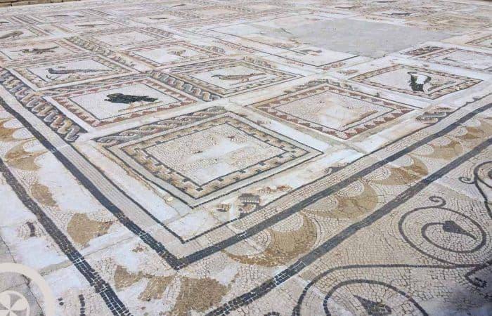 suelo casas romanas visita guiada itálica sevilla