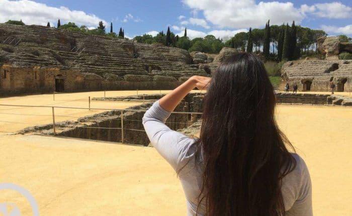 visita guiada a itálica sevilla anfiteatro